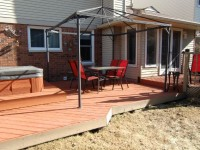 Private rear yard/deck includes hot tub