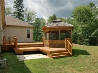 Deck and Gazebo, 1 acre lot, very private